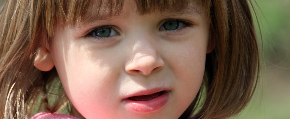 Little girl with brown hair