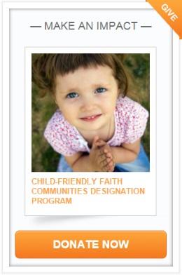 Crowd Rise Child-Friendly Faith Communities Designation Program donation button